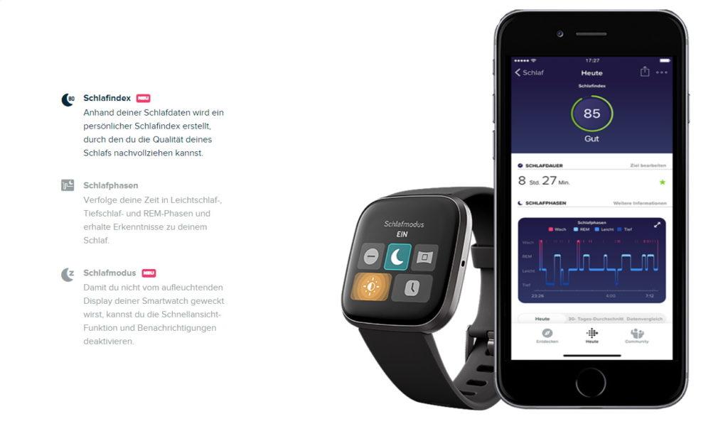 FitBit Versa 2 Test Schlaf tracken